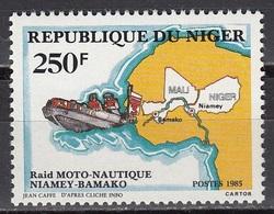 Niger - MOTORBOAT / MAP 1985 MNH - Niger (1960-...)