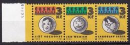 1995, Tschechische Republik, Ceska, 67/69, Gründer Des Freien Theaters. MNH ** - Tschechische Republik