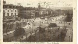 Cpa 63 Clermont-Ferrand , Tramway Place De Jaude , Voyagée 1939 * Sergent EM 21 B.I 146° RIF - Clermont Ferrand