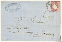 H626 -  STRASSBURG Pour STRASSBURG - 1872 - Tarif 1 Groschen - Strasbourg Bas Rhin Alsace - - Alsace Lorraine