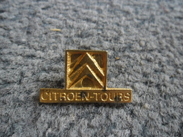 PIN'S AUTOMOBILE CITROEN TOURS (37) @ 25 Mm X 15 Mm - Citroën