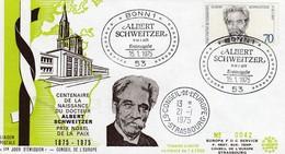 Env Affr Michel 830 Obl BONN 1 ERSTAUSGABE Du 15.01.1975 ALBERT SCHWEITZER - [7] West-Duitsland