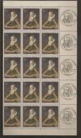 Bloc De 15 Timbres Oeuvre De Fragonnard N°1702 (bord De Feuille Et Oblitération 1er Jour Dans La Marge) - Ongebruikt