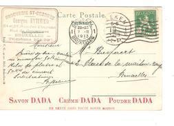 TP 110 S/CP De Middelkerke C.Publicitaire Drogueries St.Georges Savon/Crème/Poudre DADA C.BXL 7/2/1913 V.Laeken PR4302 - 1912 Pellens