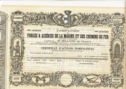 42-FORGES & ACIERIES DE LA MARINE & DES CHEMINS DE FER. CADRE DECO - Other