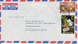 Malaysia Air Mail Cover Sent To Denmark Kuala Lumpur 27-11-1963 - Malaysia (1964-...)
