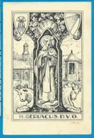 Holycard   St. Gerlachus   Van Den Zand   Van Den Riet Tilburg - Imágenes Religiosas
