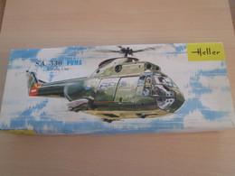 Collector Années 60/70 Maquette Plastique HELLER 1/50e HELICOPTERE PUMA Complet Non Commencé - Helicopters