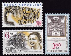 1996, Tschechische Republik, Ceska, 100/02, Philharmoni+Briefmarkengestaltung+Véra Menciková.  MNH ** - Tschechische Republik