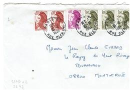 Liberté  De GANDON '- N° 2179x2 - 2242- 2185x3 Sur Lettre De PARIS  Du 16/101994 - Marcophilie (Lettres)