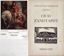 """Hekelgem  """" Ontstaan En Geschiedenis Van Het Oud Zandtapijt - + Originele Handtekening Van De Kunstenaar +postkaart - Affligem"""