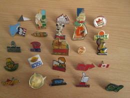 A Prix Cassé !!! LOT19-056 De 25 Pin's En Très Bon état , Tous Différents , Avec Leurs Attaches - Badges
