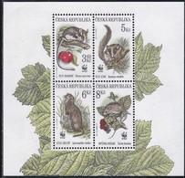 1996, Tschechische Republik, Ceska, 110/13, Naturschutz: Einheimische Kleinsäuger. MNH ** - Tschechische Republik