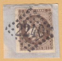 Ceres  30c   On Paper       1/127 - 1870 Emission De Bordeaux