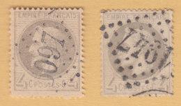 Napoleon    2x  4c        1/63 - 1863-1870 Napoléon III Lauré