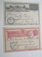 1896/97 ,  2 Ganzsachen Nach Deutschland Verschickt , 1 Mal Frageteil - Guatemala