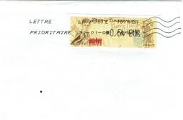 Timbre De Ditributeur - LISA 1 6 HARRY POTTER Sur Lettre Partielle Du 31/01/09 - 1999-2009 Vignettes Illustrées