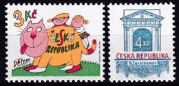 1996, Tschechische Republik, Ceska, 117+18, Weltkindertag+Baustile. MNH ** - Tschechische Republik