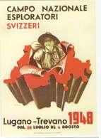 REPRODUCTION - Carte Officielle Du 4° Camp National Lugano-Trevano 1948 - Suisse - Scoutisme