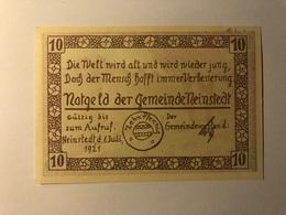 Allemagne Notgeld Neinstedt 10 Pfennig - [ 3] 1918-1933 : République De Weimar