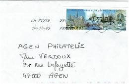 Timbre De Ditributeur - LISA 1 - Monuments De Paris Du10/10/09 - 1999-2009 Vignettes Illustrées