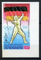 Yemen Kingdom, 1968, Olympic Summer Games Mexico, Fencing, MNH Imperforated, Michel 520B - Yémen