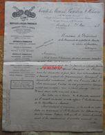 Lettre De La Société Des Mines De Bourbon-Saint-Hilaire (Allier) De 1913 Pour Cia De Asfaltos De Maestre San Sebastian - Espagne