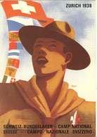 REPRODUCTION - Carte Oficielle Du 3° Camp National à Zurich 1938 - Suisse - Scoutisme
