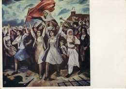 "Albania - ,,Shtator 1942 "" By Lec Shkreli 1975 ( Expozita Kombetare E Arteve Figurative ). Art,painting,communism - Albanie"