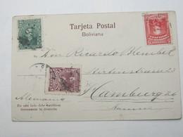 BOLIVIEN  , Ansichtskarte  Nach Deutschland Verschickt , 1906 - Bolivien