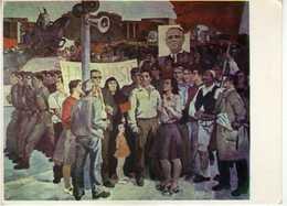 "Albania - ,,Demoncimi "" By Vilson Kilica 1975 ( Expozita Kombetare E Arteve Figurative ). Art,painting,communism - Albanie"