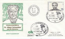 Env Affr Michel 830 Obl TÜBINGEN 21 Du 15.1.1975 Albert Schweitzer Woche Tübingen - [7] República Federal