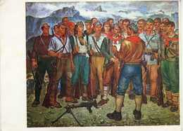 "Albania - ,,Ordre De I Etat Major,huile"" By Hasan Nalibani 1977. Art,painting, - Albanie"
