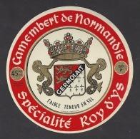 Etiquette De Fromage  Camembert  -   Spécialité Roy D'Ys  -   Germolait à Chef  Du Pont Et Sainte Mère Eglise  (50 P) - Quesos