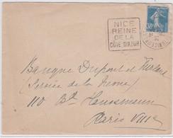 LSC - DAGUIN De NICE-StBARTHELEMY 1929 - Marcophilie (Lettres)