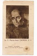 Image Pieuse Reliques Cendres Cercueil  Père Pierre-Jean CAYRON Reliquaire - Holy Card - Images Religieuses