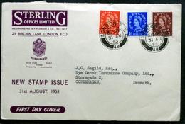 Great Britain 1953   FDC     Minr. ( Lot 6499 ) - 1952-1971 Em. Prédécimales