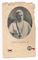 Image Pieuse Reliques Etoffe Ayant Touché Le Pape Pie X - Reliquaire - Holy Card - Images Religieuses