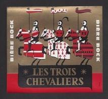 étiquettes De  Bière Bock 1961 -  Les Trois Chevaliers  -  Brasserie De Kérinou à Brest (29) - Bière