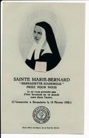 Image Pieuse Reliques Etoffe Ayant Touché Sainte Marie-Bernard Bernadette Soubirous - Reliquaire Lourdes - Holy Card - Images Religieuses