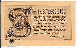 Image Pieuse Rare Reliques Parcelle Cercueil Louis Gaston DE SONIS - Reliquaire Loigny Guerre 1870 - Holy Card - Images Religieuses