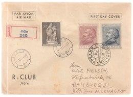 MiNr. 829 + 836 - 837 Tschechoslowakei / 1953, 11. Okt. Solidarität Mit Korea., 1953, 28. Nov. Josef Mánes - Tschechoslowakei/CSSR