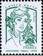 France Marianne De La Jeunesse Par Ciappa Et Kawena N° 5015 ** Verte Jusqu'à 20g - 2013-... Marianne De Ciappa-Kawena