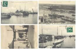 4 Cpa Lorient - Port De Guerre, Construction Navale, Arsenal, Cuirassés ...    ( S.3075 ) - Lorient