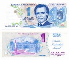 EL BANCO CENTRAL ARGENTINA // 1 & 2 & 10 Pesos // UNC - Argentine