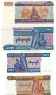 1998 // CENTRAL BANK OF MYANMAR // 50 & 100 & 200 & 500 Kyats // UNC - Myanmar