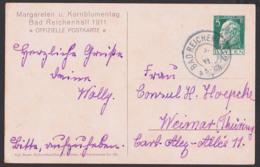 """Bayern Bad Reichenhall """"Margareten U. Kornblumentag 1911, Offiz. Postkarte, Mädchen Mit Bluemnkranz Vor Alpen, PP - Duitsland"""