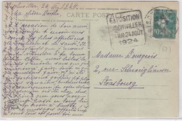 CP - DAGUIN De BISCHWILLER 1924 - Marcophilie (Lettres)