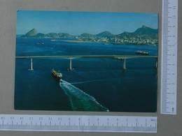 BRASIL - PONTE PRESIDENTE COSTA SILVA -  RIO DE JANEIRO -   2 SCANS  - (Nº26007) - Rio De Janeiro