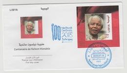 Libye Libya 2018 Mi. ? FDC S/S Joint Issue PAN African Postal Union Nelson Mandela Madiba 100 Years - Libye